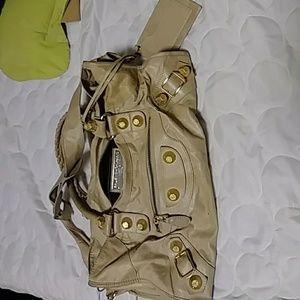 Balenciagia Paris beige satchel bag